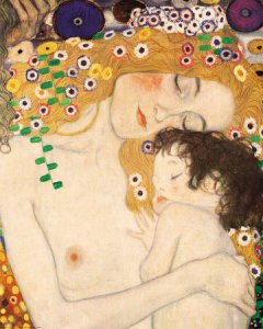 Gustav Klimt, Detail from The Three Ages of Women